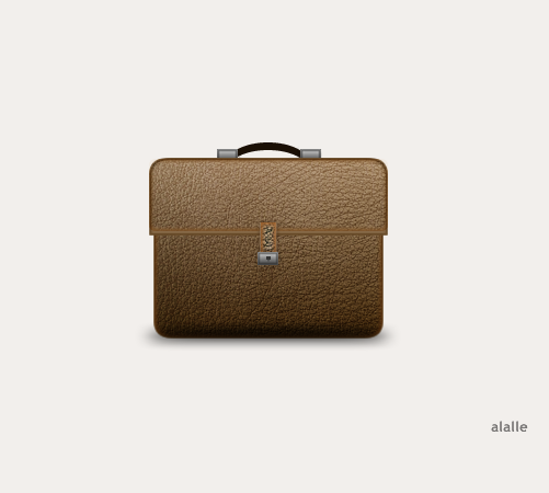 Briefcase icon made in Adobe Fireworks